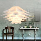 Modern Colored Plastic Lotus Lily Flower Lampshade DIY Pendant Ceiling Fixtures