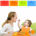 Cute Silicone Child Baby Placemat Suction Plates Bowl One-piece Tray Dish Dishes
