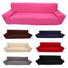 Solid Furniture Stretch Slipcover Sofa Couch Cover 4 Seater Home Slip Cover DA