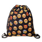 Drawstring Backpack Waterproof Emoji Gym PE Swim Beach School Travel Sport Bag