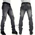 "Peviani super club g jeans, grey ""rock-star"" mens denim, slim straight rips hip"