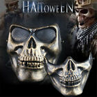 Full or Half Face Skull Skeleton Mask Hunting Party Scary Halloween Costume Mask