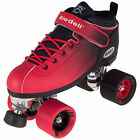 Riedell Dart Ombre Speed Skates - Red/Black Fade