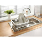 Collapsible Carvan Kitchen Sink Organiser Dish Drainer Space Saver Red or Grey