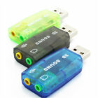 USB To 3.5mm Mic Headphone Jack Stereo Audio Adapter 5.1 Sound Card US Location