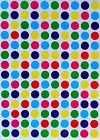 3/8 Inch Round Circular Color Coding Small Dot Mini Stickers Classic Colors