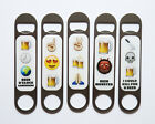 Bottle Opener Emoji Emoti Bar Blade Steel Magnetic Birthday Gift Stocking Filler