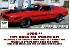 GE-799 1971 FORD MUSTANG - BOSS 351 COMPLETE STRIPE KIT and NAMES - LICENSED