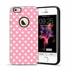 For iPhone 6 6S Plus SE/5S Soft TPU Hybrid Polka-dot Protective NEW Case Pink