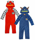 Boys Paw Patrol Puppy Marshall Chase Fleece Zip Hooded Sleepsuit 3 to 6 Years