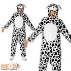 Dalmatian Dog Costume Adult Mens Ladies Fancy Dress Book Dalmation Costume NEW