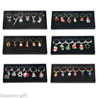 HX 1Set Pendants Enamel Christmas Charms Wine Glass Mixed 18x8x2cm M17443