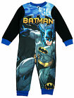 Boys Batman Logo Caped Crusader Fleece Sleepsuit Zip Romper 3 to 8 Years