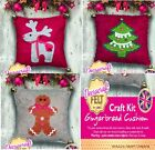 Felt Christmas cushion kit - Wool Mix Felt & everything needed exc cushion