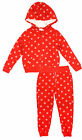 Boys Red Polka Spot Zip Hoody Jacket & Bottoms Outdoor Set 3 Months to 5 Years