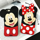 3D Mickey Minnie Silicone Phone Case For Samsung S9 iPhone X 4 5 6 7 8 LG Huawei