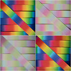 Double Sided Rainbow Pastel Satin Grosgrain Ribbon **New Design**