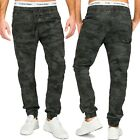 Herren Chino Jeans Hose 5-Pocket Stoffhose Baumwolle Camouflage Tarnmuster Army