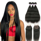 Brazilian Hair 3 bundles with lace Closure Human Hair Extensions Weave Hair Wave