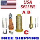 Quick Sewing Awl Leather Canvas Repair Stitcher Kit 4 Needles 180 yards Thread