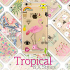 Flamingo Doodle Cute Tropical Case for iPhone Ultra Thin Soft Skin Cover