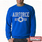 AIR FORCE CLASSIC CREW NECK Sweatshirt U.S Logo Pullover Wings USAF USA Airforce