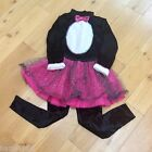 Fab TU girl's black cat fancy dress outfit, Age 9-10 years, VGC