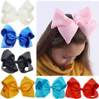 8 Inch Large Girls Hair Bows Grosgrain Ribbon Knot Large Alligator Clip