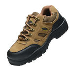 MTN Mens Leather Safety Shoes Steel Toe Breathable Boots Hiking Climbing Shoes