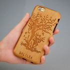 For iphone 7 7 plus 6 6S Plus  New Natural Wooden WoodTattoo Carve  Phone  Case