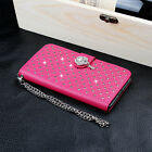 New Fashional PU Leahter Jewelled Wallte Card Phone Case Cover For iPhone 6/Plus
