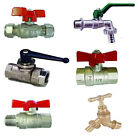 T-Handle Valve. Lever Ball Valve With Hose Union, Panel Mounted, Hose Bib Tap.