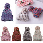 NEW LADIES WOMENS MENS KNITTED THINSULATE SKI BOBBLE POM BEANIE WOOLLY HAT