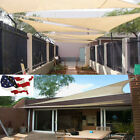 11.8' /16.4' Triangle Sun Shade Sail UV Top Canopy Pool Patio Lawn Cover Outdoor