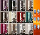 Luxury Thermal Blackout Pair of Curtains,Fully Lined Eyelet Ring Top Curtain