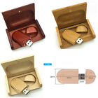Best Gift Magnetic Wooden USB 2.0 Flash Driver Memory Stick+Wooden Box 8GB-32GB