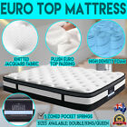 NEW Luxury Euro Top Mattress Bed Jacquard Fabric Plush Padding Double Queen King