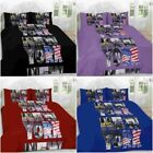New York Duvet Cover Set With Pillowcases Size Single Super King Double Bedding