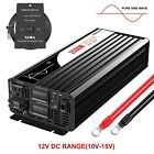 Pure Sine Wave Power Inverter 2500W Input 12V/24V/48V DC to AC 120V Single Phase