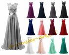 STOCK Long Formal Bridesmaid Dresses Evening Party Prom Ball Wedding Gowns 6-20
