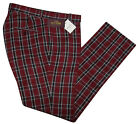 RELCO TARTAN TROUSERS - BURGUNDY - CLASSIC MOD SKINHEAD STA PRESS STYLE