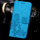 Fashion Flip Embossed Patterned PU Leather Card Pocket Wallet Stand Case Cover