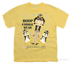 Youth: Betty Boop - Dressed to Chill Apparel Kids T-Shirt - Banana $16.99 USD
