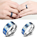 Fashion Men Women Stainless Steel Round Forever Love Wedding Ring Size 6 7 8 9
