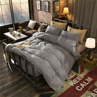 Charcoal Grey Chic King Single Double Size Quilt Doona Duvet Cover Sets Bedding