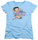 Womens: Betty Boop - All American Girl Apparel Ladies T-Shirt - Light Blue $19.99 USD