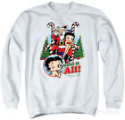 Crewneck Sweatshirt: Betty Boop- I Want It All Crewneck Sweatshirt - White $29.99 USD on eBay