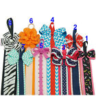 1 Pc Girls Hair Bows Holders Grosgrain Ribbon With Cute Patterns Clips Holder