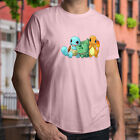 pokemon yellow bulbasaur - Squirtle Bulbasaur Charmander Starter Pokemon Cute Cool Mens Unisex Tee T-Shirt
