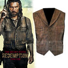 New Cullen Bohannon Anson Mount Hell on Wheels Distress Brown REAL Leather Vest